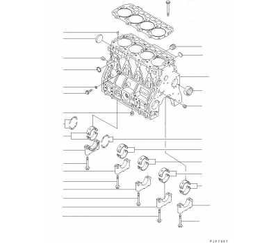 Блок цилиндров для двигателя Komatsu 4D92E